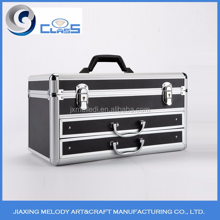 Manufacturers from China sale portable aluminum tool box with drawers