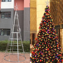Hot Sale cheap Outdoor big PVC artificial giant christmas tree