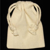 Wholesale Cotton Calico Dust Drawstring Bag With Custom Logo