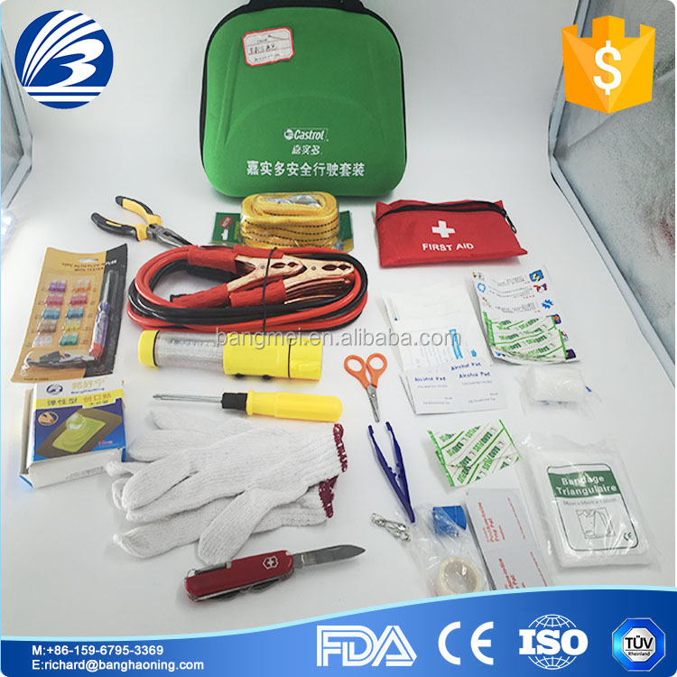 2017 Emergency first aid kit for auto car vehical from manufacturer with good price
