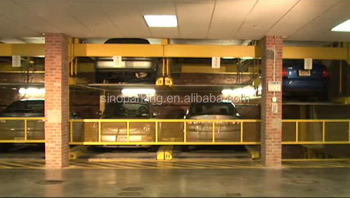 Sinoparking 3 layer puzzle parking system with pit mechanical car lift
