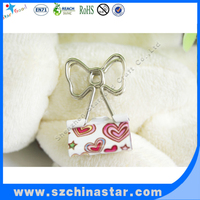 Customized metal foldback clip