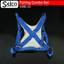 Strong Deep sea fishing vest, fishing rod holder could use with fightingf belt together