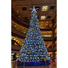 Eyecatching inflatable blue lighted Christmas tree indoor