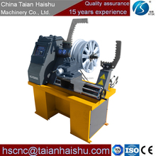 calender rimming machine HS-RSM595 alloy wheel straighten machine special lathe for car or truck