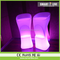 garden outdoor decor led cube chair,light cube seat,glowing cube seat