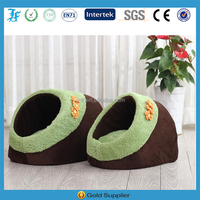 cute slipper pet bed with the removable flower