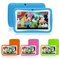 Kid Proof Silicone Kids 7 inch Tablet Case Quad Core Android 4.4.2 Good Quality Tablet PC android 4.2 Tablet For Gaming