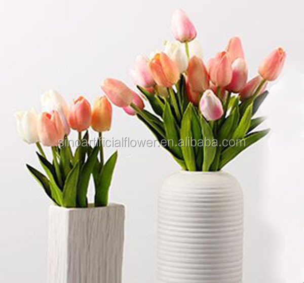 wholesale artificial PU mini tulip <strong>flower</strong> for wedding decoration