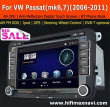 Hifimax car radio for vw passat b7 car gps navigation vw golf 5 dvd navigation for VW Golf 6 car dvd system gps navigation