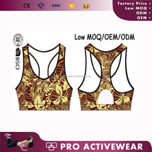 Hot selling different kinds of sports wear sports bra for swimming