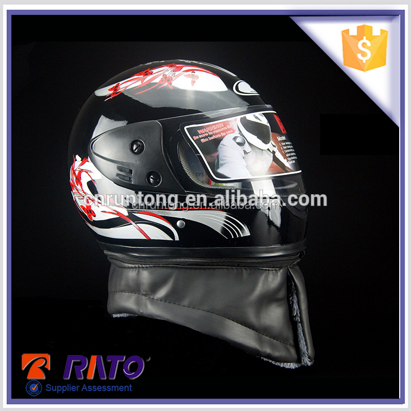 Motorcycle accessories black custom motorcycle helmet dacal