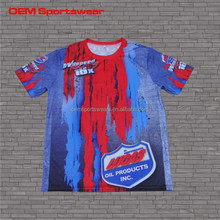 Sublimated team jerseys oem custom t shirt motocross