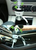 Car Humidifier Dual USB Car Charger 5V 2.1A+Essential Oil Aroma Diffuser+ Mini Cool Mist Aroma+Air Purify
