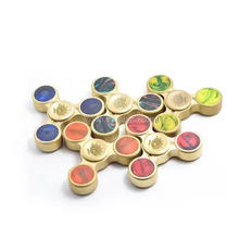 2017 New arrival brass material EDU hand spinner fidget toy