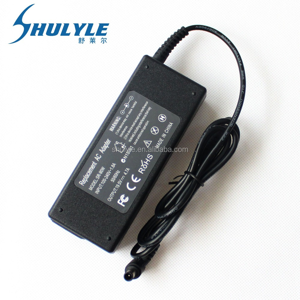 laptop ac adapter 19.5v 4.7a 90w for Sony VGP-AC19V39/VGP-AC19V42