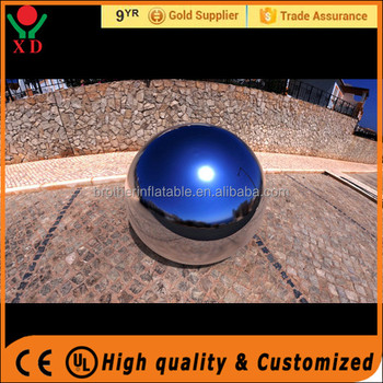 Hot sale Advertising Mirror Balloon Pvc Inflatable Mirror Ball Popular Decoration Sliver