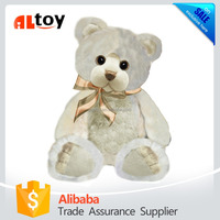 White Sitting Teddy Bear Stuffed Animal Toy