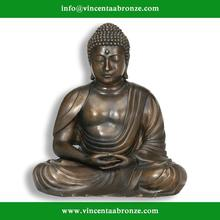 Customed modern garden sculpture bronze water fountains buddha