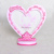 Desk Decoration Heart Shape Resin Photo Frame For Girls