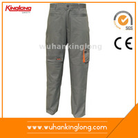 Embroidered Cargo Work Trousers Khaki Military Pants For Men
