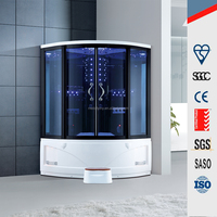 Multi-functional portable steam shower room with whirlpool tub for family design