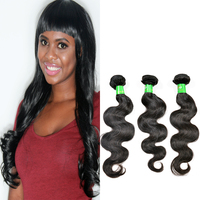 factory wholesale natural custom virgin double drawn remy Brazilian Peruvian Indian body wave human hair extension