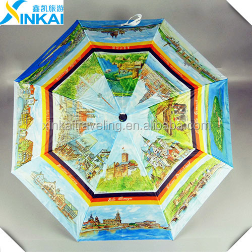 nice dome umbrella with rain drop print honsen