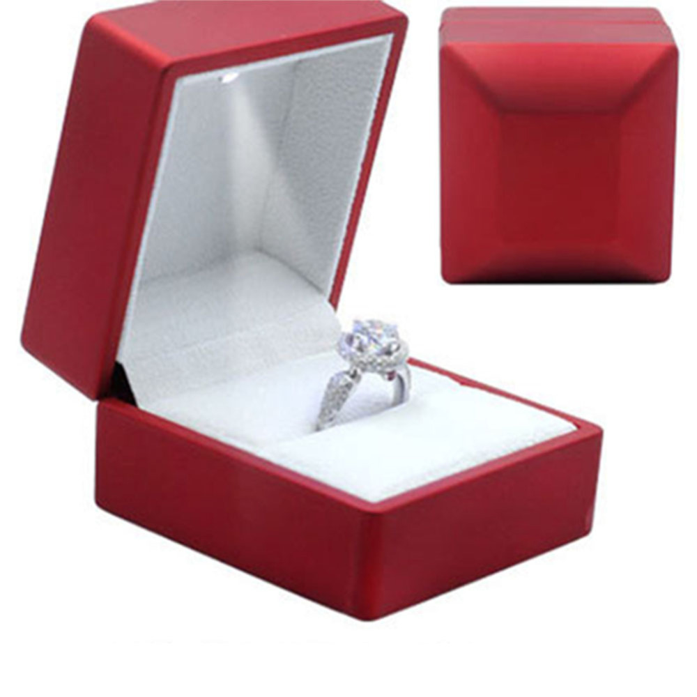 Buy High Quality Red Painted Led Ring Box Gift Spotlight Jewelry Packaging Boxes Proposal Free Shippingd5 In Cheap Price On Alibaba: Red Wedding Ring Box At Reisefeber.org