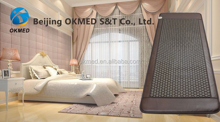 wellness biomat thermal tourmanium massage mat/ tourmaline mattress combined with infrared heat therapy pad okmed