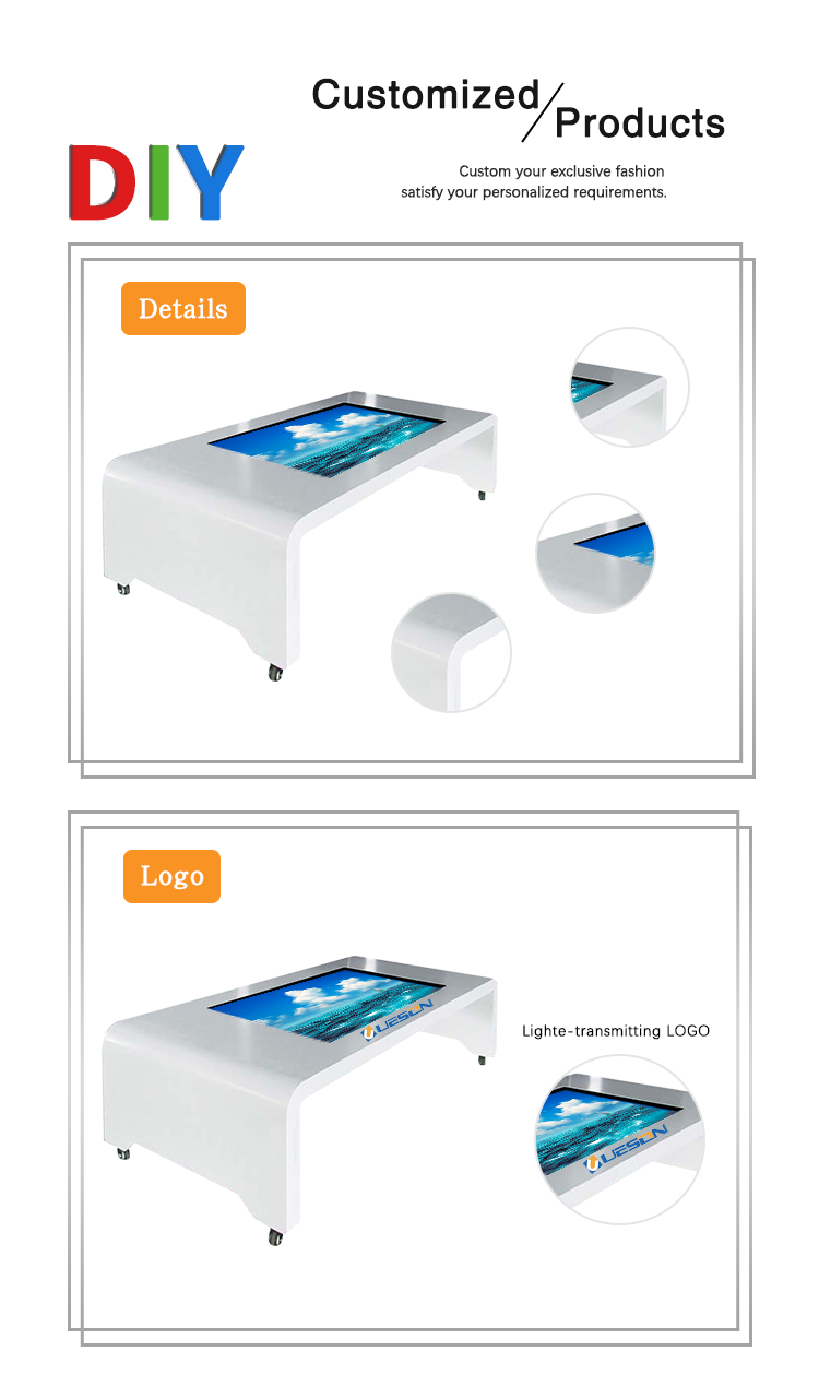 table touch digital signage