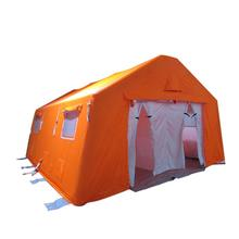 outdoor military inflatable fireproof camping tent for emergency relief