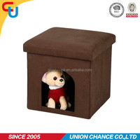 Multifunction novel foldable cube pet house ottoman
