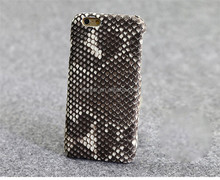 Python Snakeskin Leather Phone Accessory for iPhone4S Cover