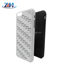 Wholesale sublimation blank plastic cover + tpu inner cover with metal insert 2 in 1 sublimation case for iPhone 6 plus