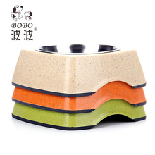 Factory Customized Bamboo Wholesale Stainless Steel Dog Bowl