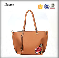 8936-Fashion pu leather tote bag hot sale tote leather bag 2017 travel tote bag