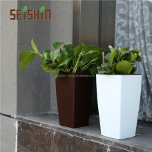 HG-3182 Square Column Desk Garden Self Watering Plastic Flower Pot