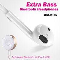2017 new patent model CSR wireless BT4.1 earphones with removable bluetooth tool