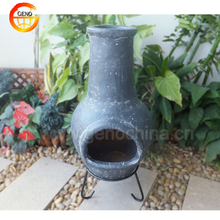 Decorative Wood Fired Clay Chimney for Garden Party