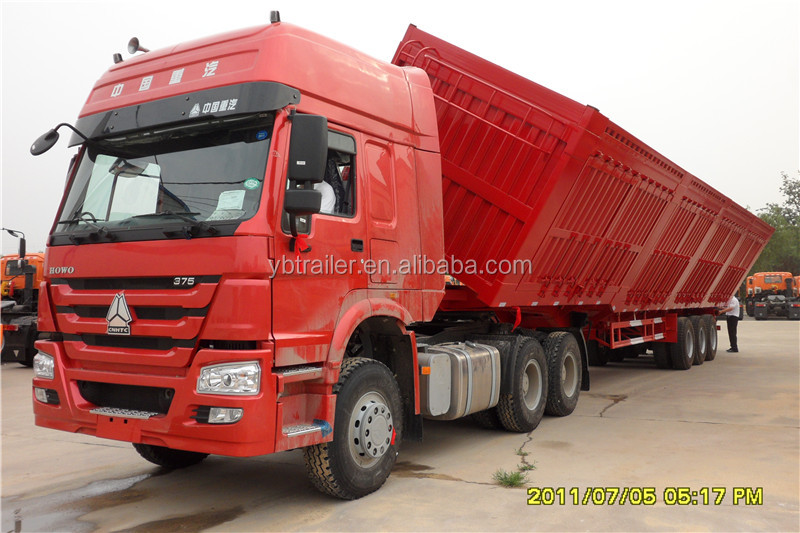 60 tons 3 axles side dump semi trailer and tipper truck trailer