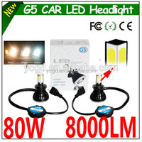 wholesale LED headlight G5 80W 8000lm fan super bright LED car conversion kit