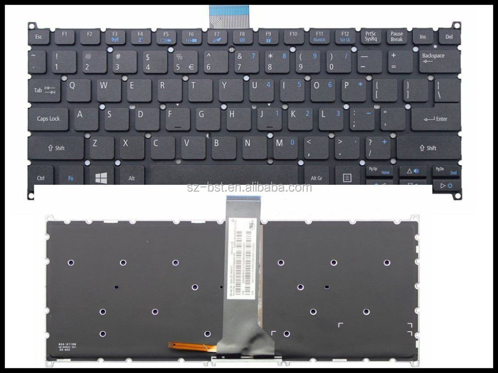 United States US layout Laptop Keyboard For Acer As V5-122 V5-122P with Backlit