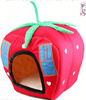 Wholesale pet puppy dogs house tomato shape dogs room cute funny dogs beds