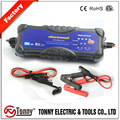 CE,ETL certificated portable AGM.GEL,lead acid battery charger 12v 24v 3A 6A
