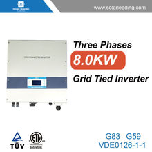 8kw 3 phase solar panel inverter also called on grid inverter for solar pv system