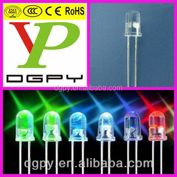High Quality 5mm ultra bright led Diodes Green/Blue/Yellow/Red/Orang/Amber/Pruple/Pink ( CE & RoHS )