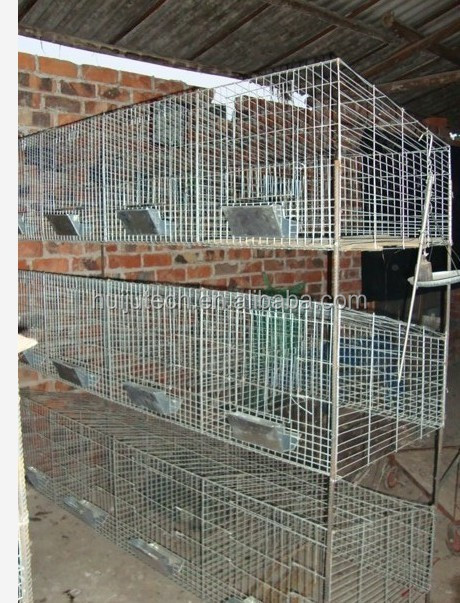 Durable metal rabbit breeding cages/cheap rabbit cages HJ-RC12