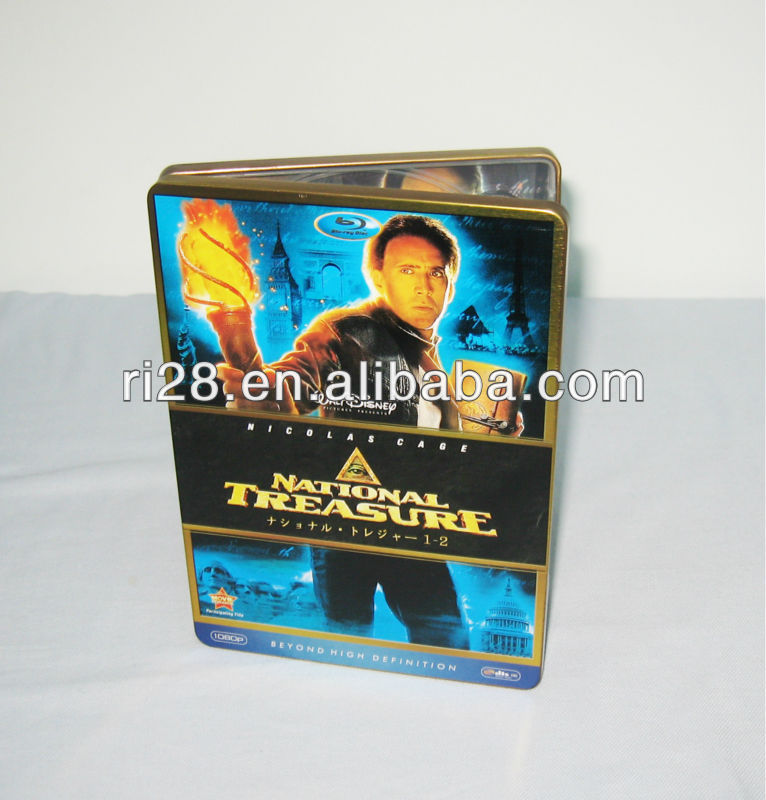 Metal DVD case for 6pcs
