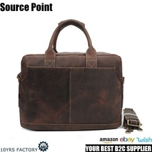 YD-8013 Top quality full grain cowhide crazy horse messenger travel genuine leather laptop bags